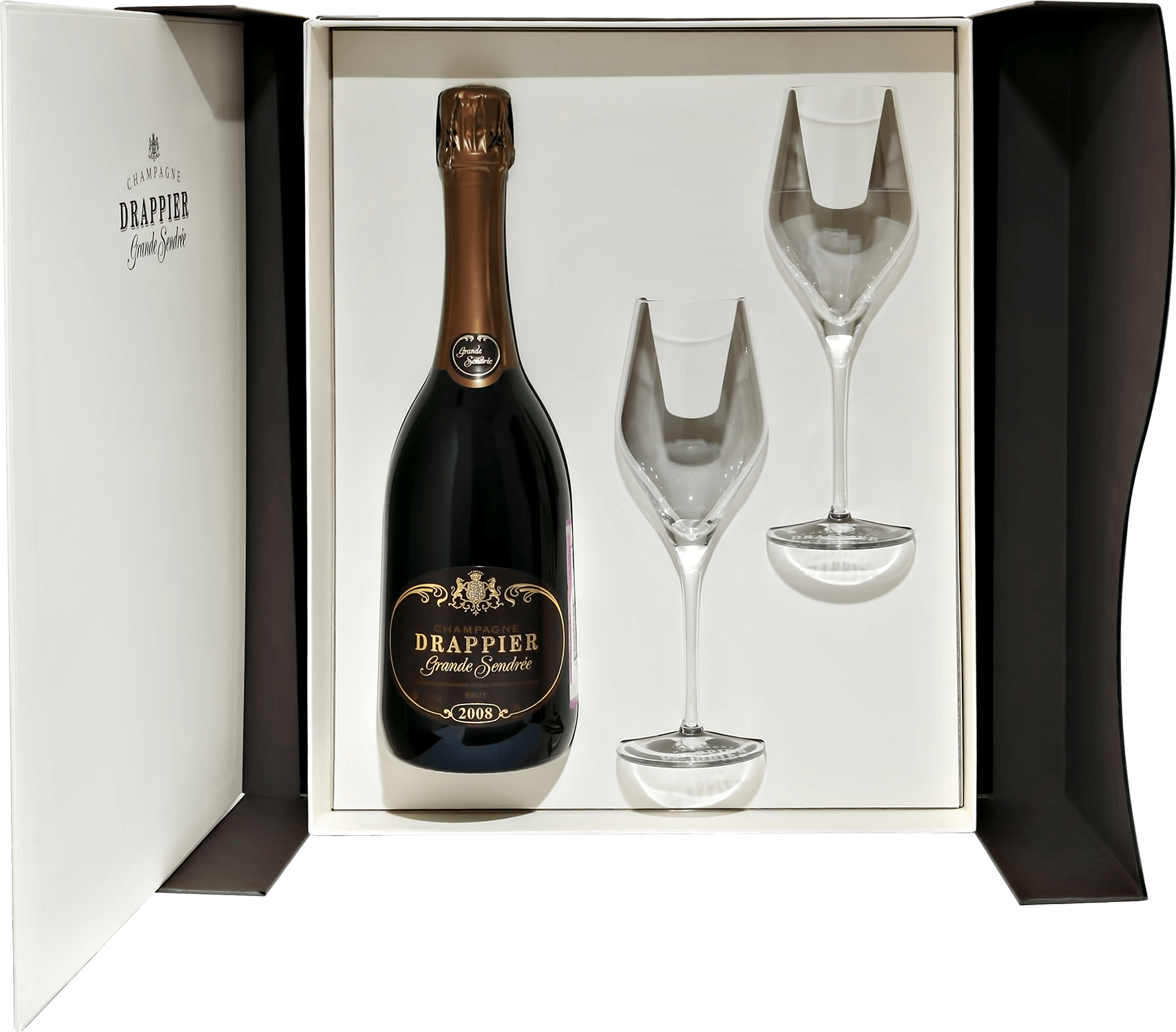 "Игристое вино Drappier ""Grande Sendree"" (gift box with 2 glasses) 2008 0.75л"